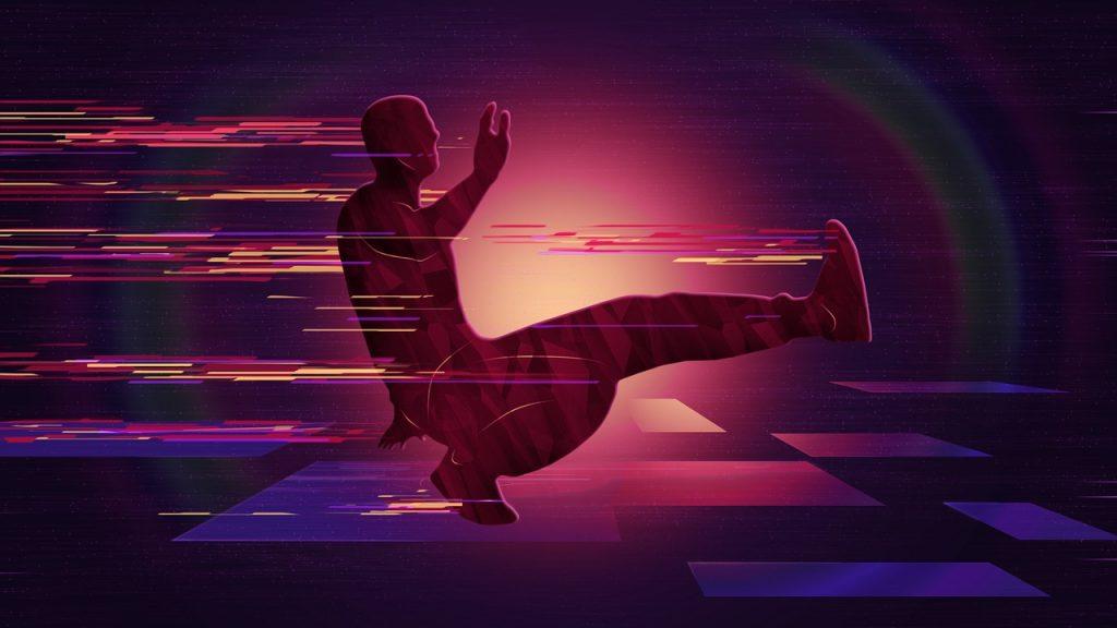ブレイクダンスのフットワーク