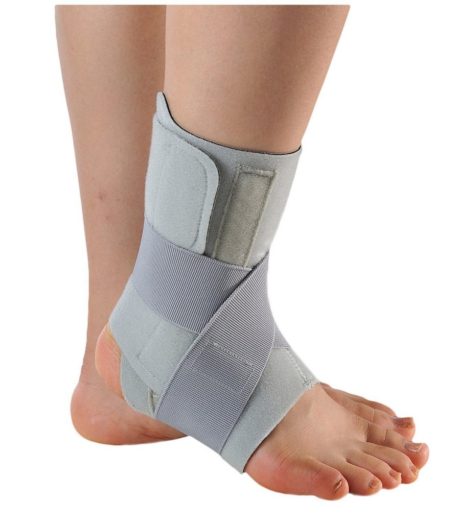足首の捻挫サポーター